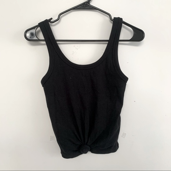 2/$10 HOLLISTER black tank with front knot